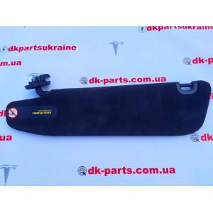 1 Козырек солнцезащитный правый, ULTRASUEDE BLK 1050620-06-A
